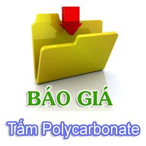 Báo giá Tấm nhựa thông minh Polycarbonate