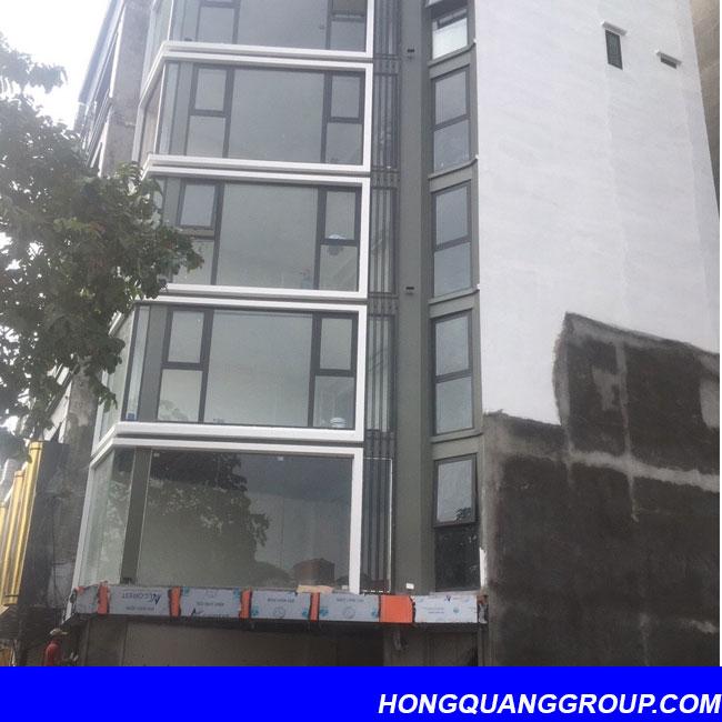 Hình ảnh thi công cửa khung nhôm công trình Bắc Ninh 1