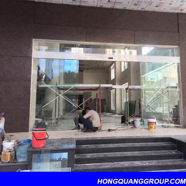 Hình ảnh thi công cửa khung nhôm công trình Bắc Ninh 2