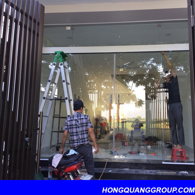 Hình ảnh thi công cửa khung nhôm công trình Bắc Ninh 6